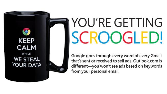 پیش از این مایکروسافت گوگل را متهم به جاسوسی کرده بود.