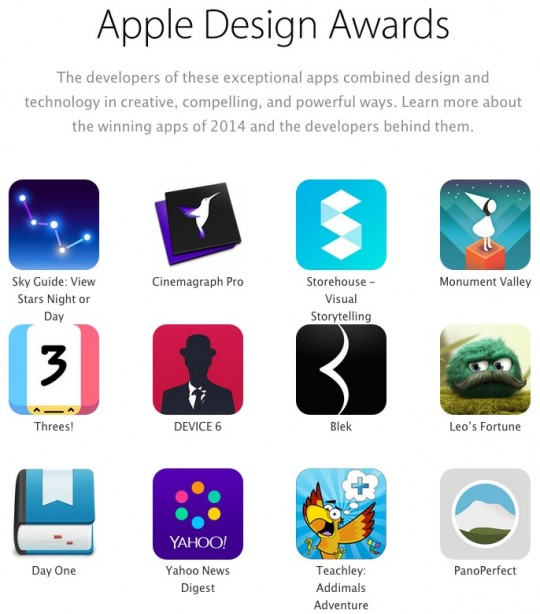 Apple-Design-Awards-WWDC14