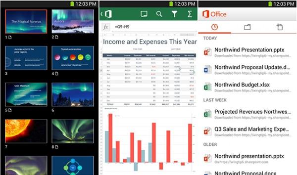 ماکروسافت افیس برای اندروید, بدون نیاز به office 365