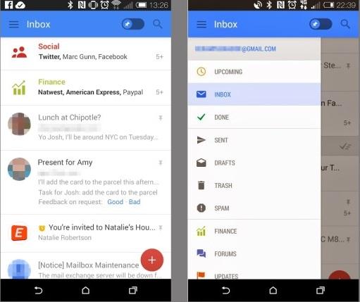 تصاویر درز کرده از اپلیکیشن جدید جیمیل برای اندروید از رابط کاربری جدید و قابلیتهای بیشتر خبر دارد